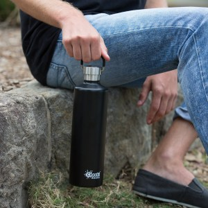1 Litre Classic Insulated Bottle - Matte Black (3)