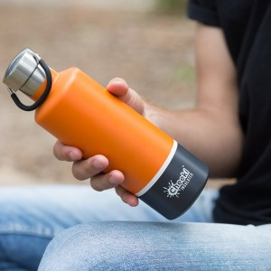 600ml Classic Insulated Bottle - Orange Grey (1)